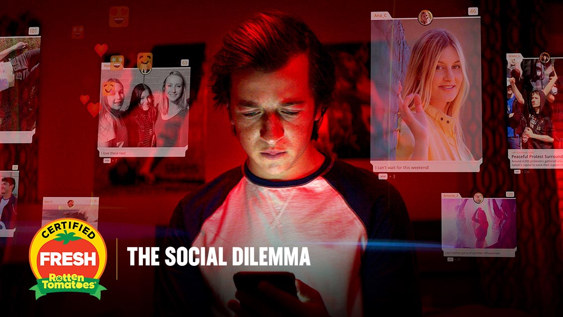 #TheSocialDilemma is #CertifiedFresh at 90% on the #Tomatometer, with 40 reviews: https://t.co/3i2WkF8enx https://t.co/FNlF4r7ufC