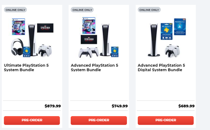 Wire Deals On Twitter Playstation 5 System Bundles Available At Gamestop Https T Co Efr4ob1qpe