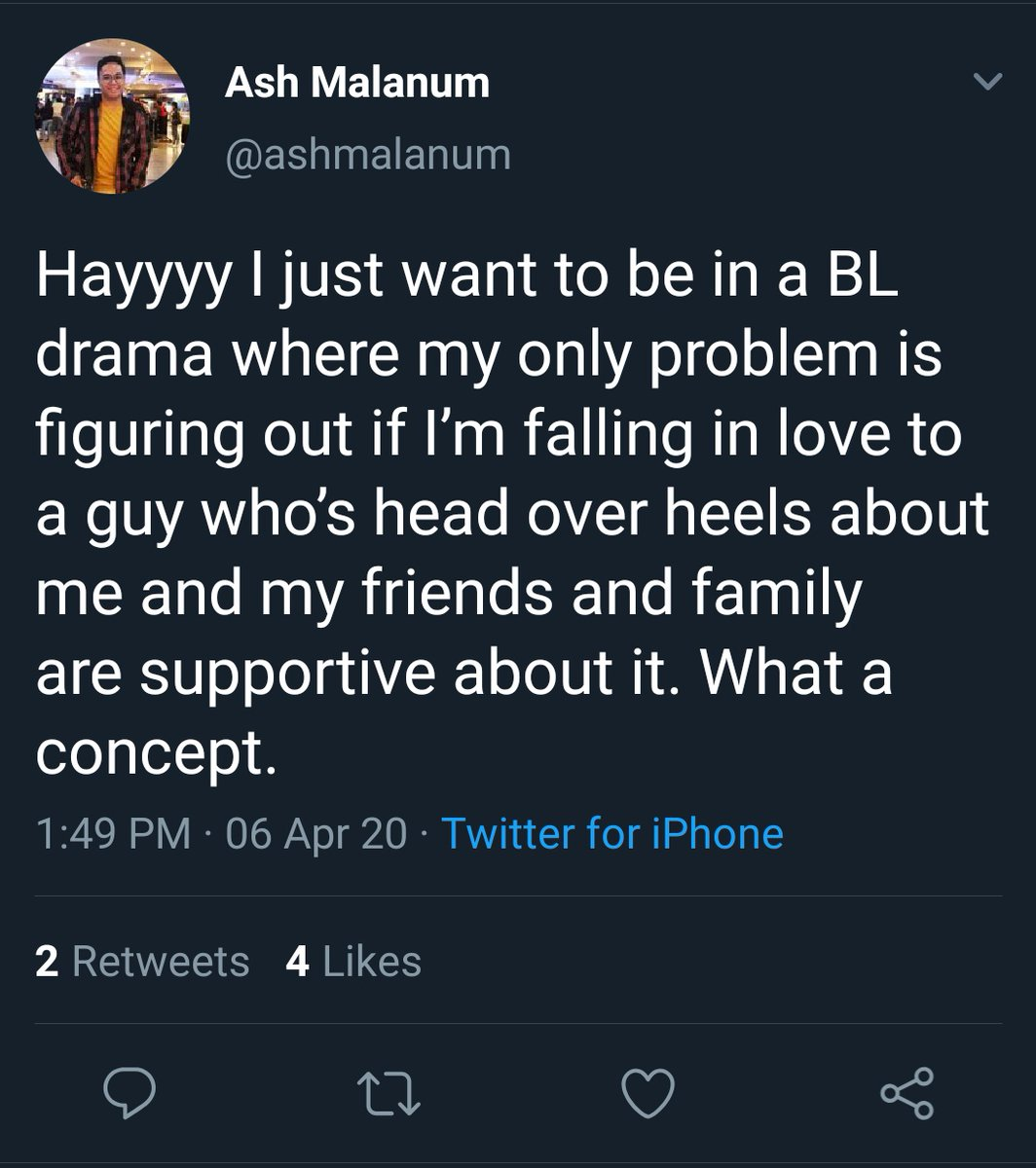 With no intention to diminish the vast horizons of his astounding creative imagination, I just want to express how happy it makes me that a member of the LGBTQ+ community was finally granted the spotlight to tell the BL story they DREAMT of telling.Thank you  @ashmalanum