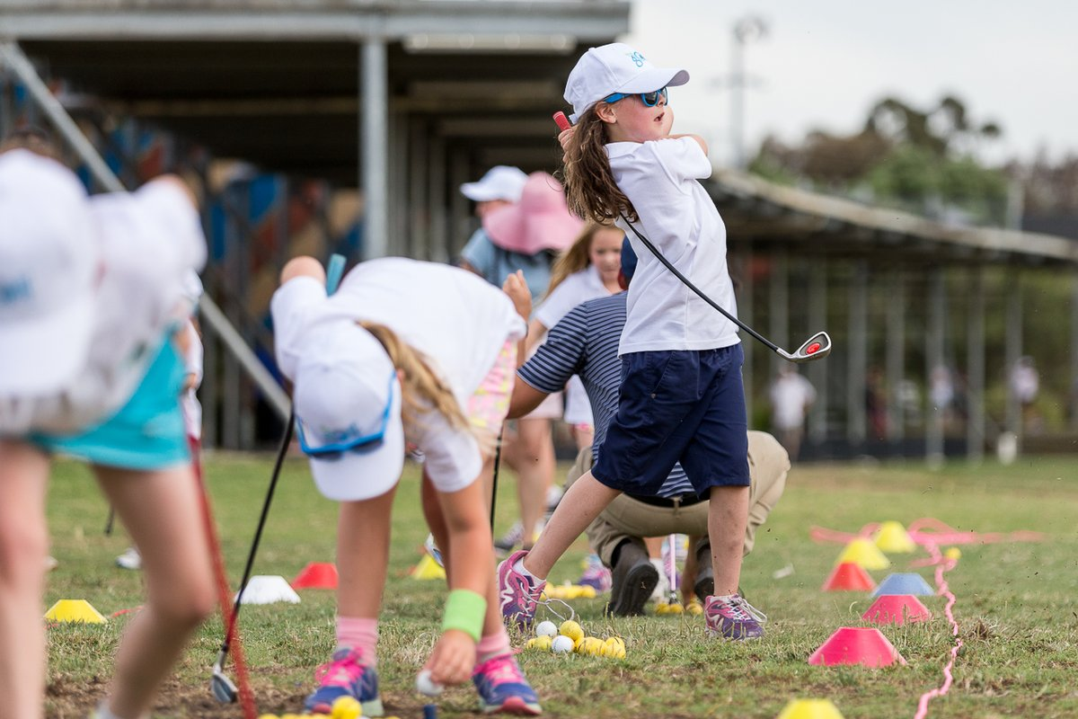 Try telling us these kids aren't having a ball... 👧😁  Sign up for the #MyGolf Term 4 program now! All the info you need is at https://t.co/0EME3Pwxo8 😍 #GameForLife https://t.co/xxCyTAw76u