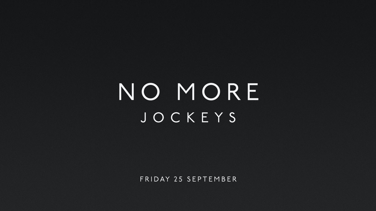 Set 2 of No More Jockeys begins next Friday. #nomorejockeys https://t.co/L69e2J3bPj