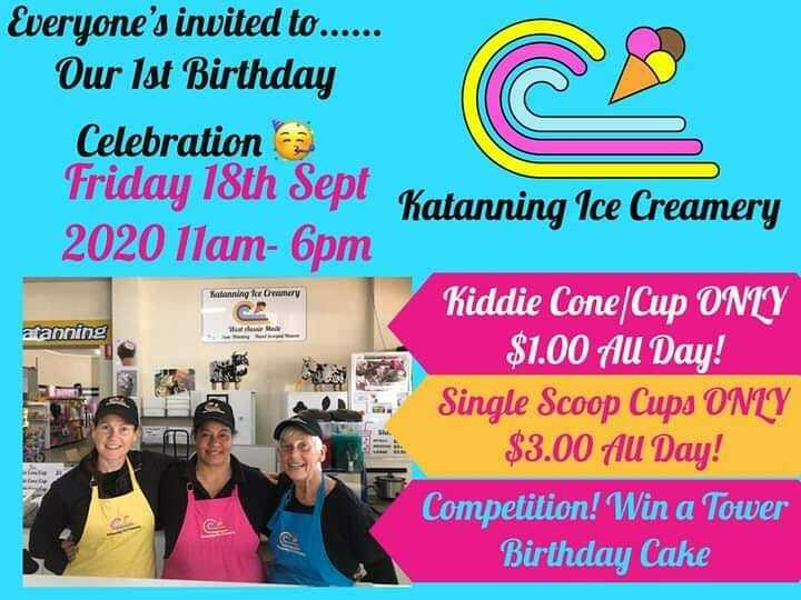 Go visit Katanning Ice Creamery at The Co-op Stores (the other bulk food store) in #katanning . It's their 1st birthday today!  @katanningicecreamery https://t.co/HrmR7q3jIe https://t.co/1nBub4Zmwq