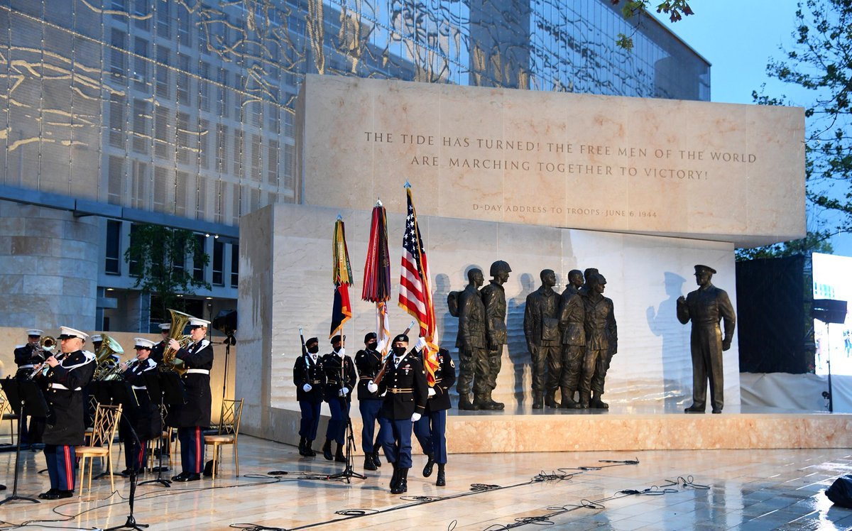 Today, @IStillLikeIke formally dedicates the memorial that honors the legacy of the WWII Supreme Allied Commander and our 34th President, Dwight D. Eisenhower. It is my honor to accept the memorial as the 420th unit of the @NatlParkService.
