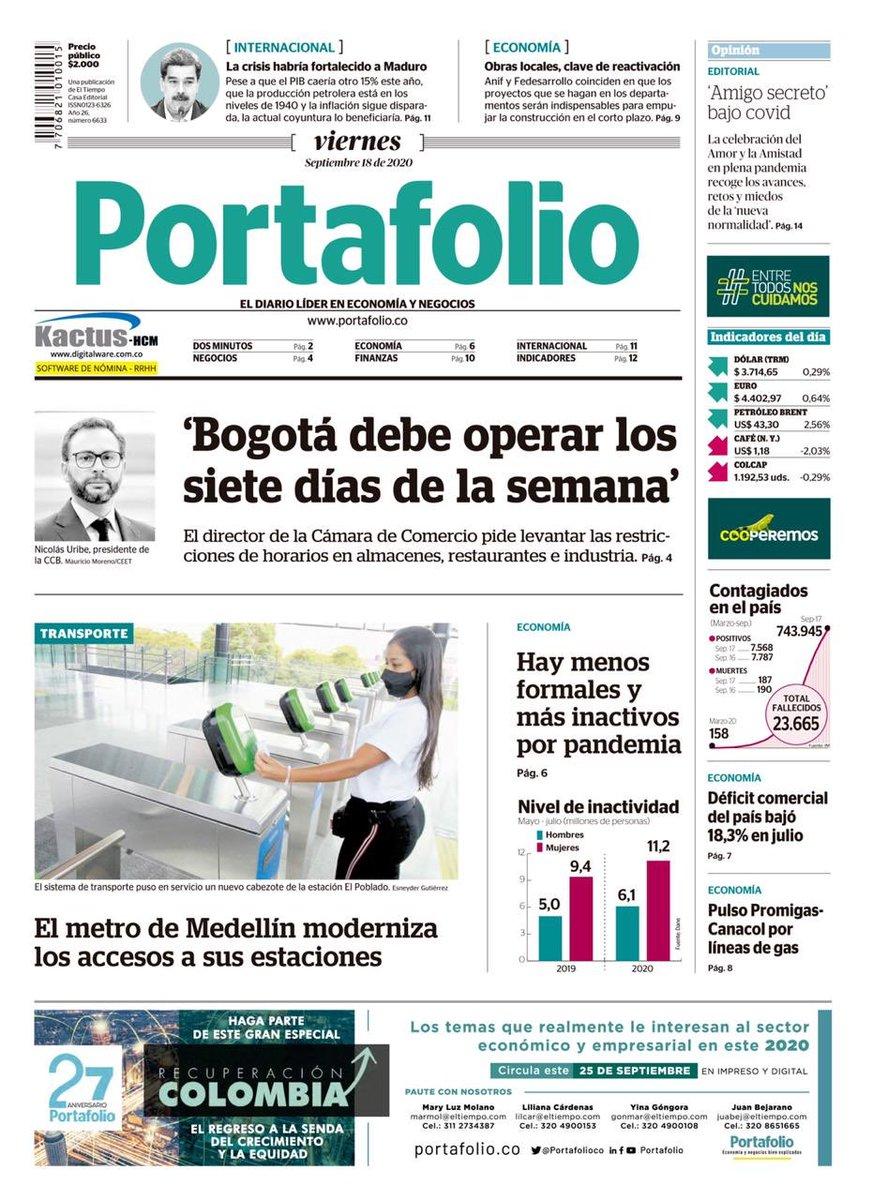 Cuantos días a la semana debe operar Bogotá? No nos podemos dar el lujo de seguir destruyendo empleo. https://t.co/IFjJFL2Oh6