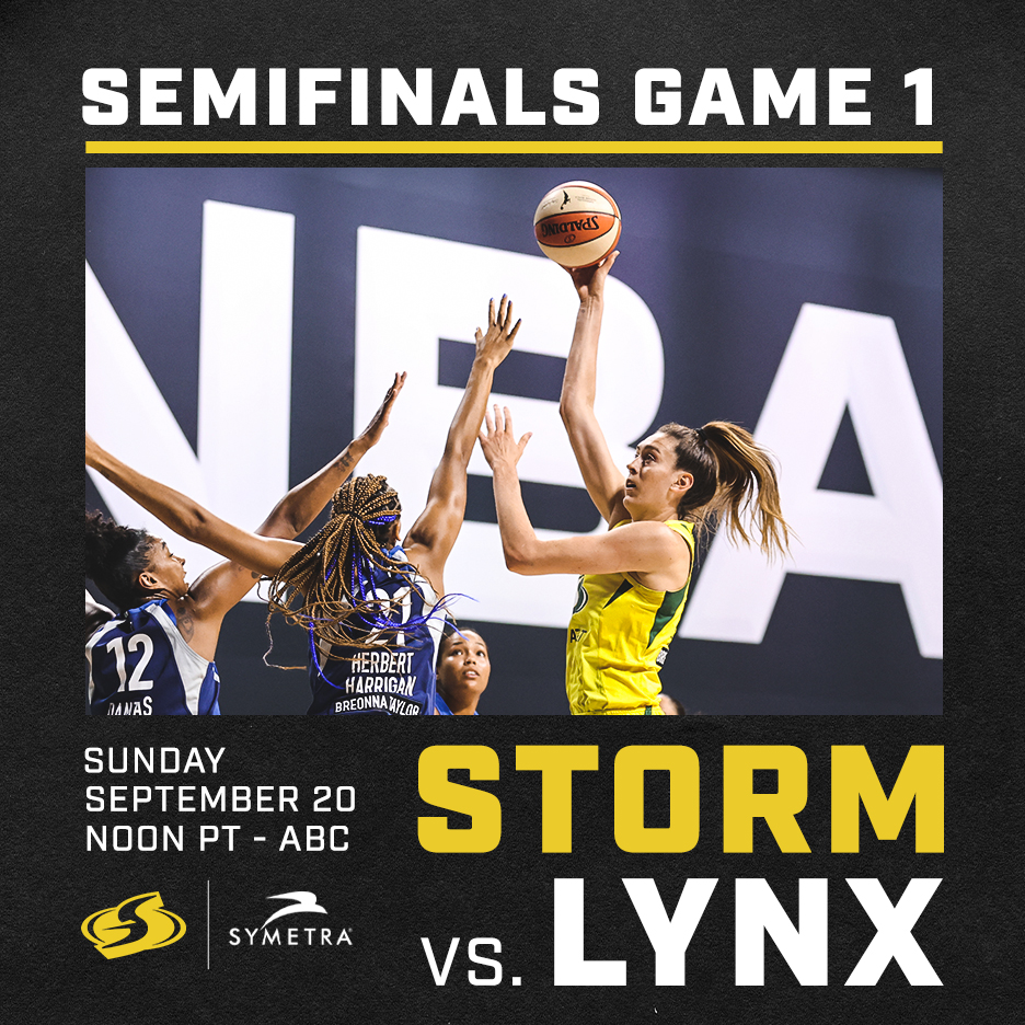 💪 The stage is set! 💪  We'll take on the @minnesotalynx in the @WNBA Semifinals presented by @Symetra 💥  Game 1 tips off this Sunday at noon on @ABC 📺  #StrongerThanEver https://t.co/zXm9EPNAkR
