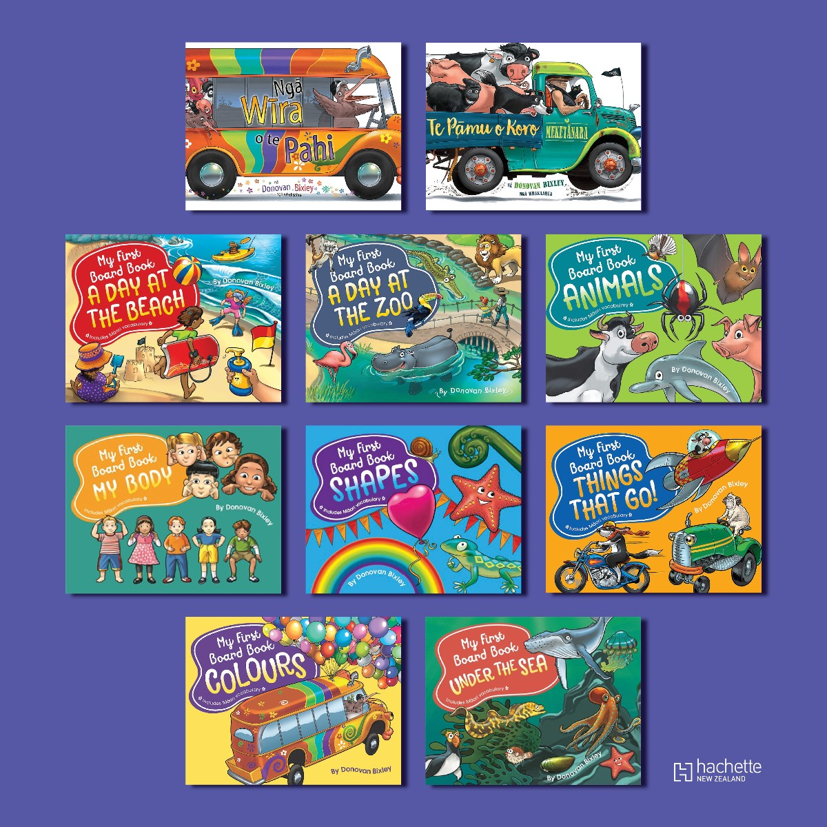Kiwi kids can learn te reo Māori early - Board books from author Donovan Bixley are bilingual and favourite titles like NGĀ WIRA O TE PAHI and TE PĀMU O MEKETĀNARA are available in te Reo and English.  Find children's activity sheets from Donovan here: https://t.co/zMzJAvP36I https://t.co/vHojvJb6hH