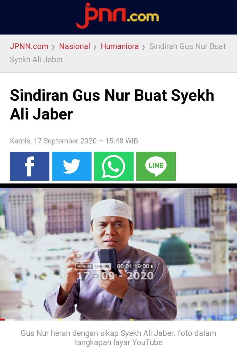 Gagal manfaatin kasus Syekh Ali Jaber, Si Pansos Sugi Nur yg ngaku2 ustad tapi gak bisa ngaji itu, mulai ngejek-ngejek.... https://t.co/IiMjxeA0UB
