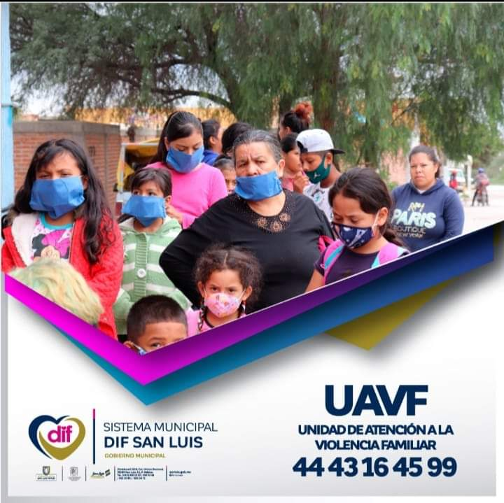 La Coordinación de Apoyo a la Comunidad de #DIFMunicipal #SLP❤️, pone a tu servicio la  UAVF. Si conoces algún caso de violencia familiar o la vives en tu hogar, estamos para atenderte.  Un corazón que #SuenaFuerte https://t.co/0b8ntL3sQW