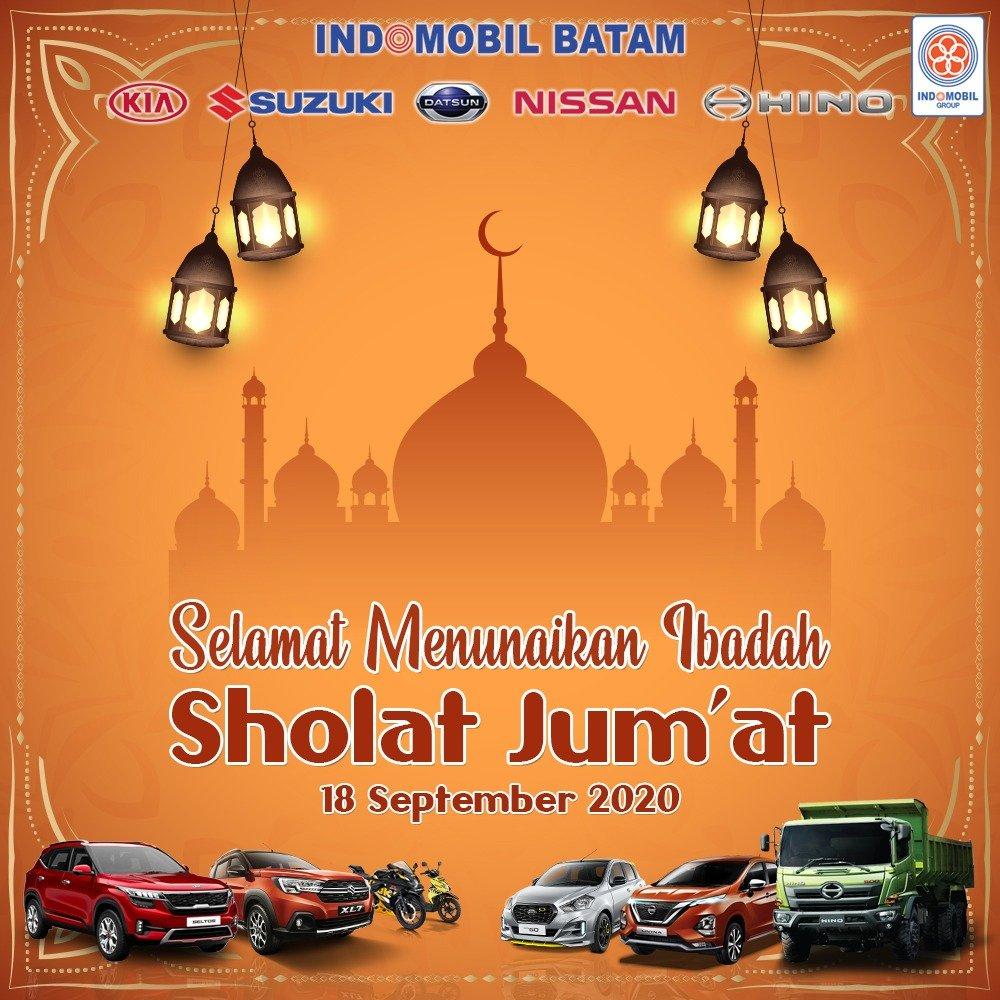 Selamat Menunaikan Ibadah Sholat Jumat 18 September 2020  #IndomobilBatam #Suzuki #Nissan #Datsun #Kia #Hino https://t.co/tNYCCvBElB