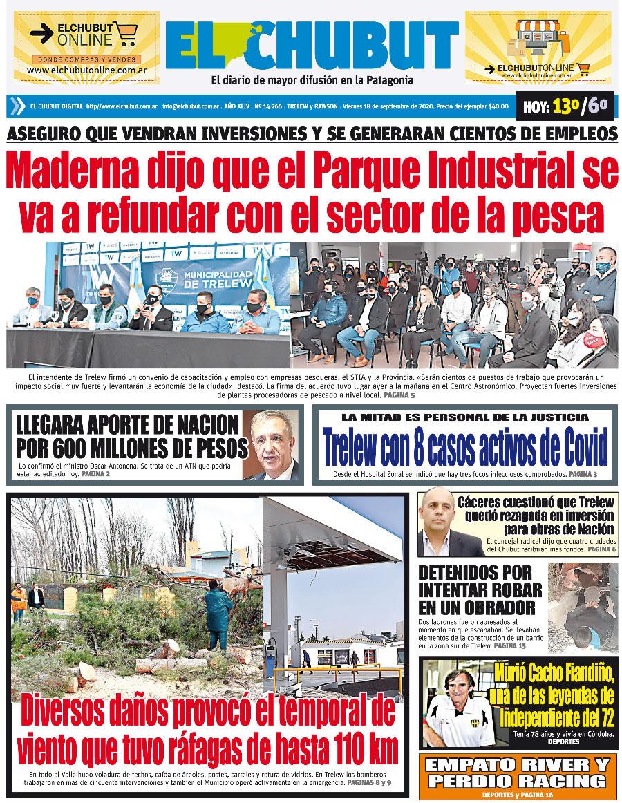"""#GraciasADiosesViernes Fresca y ventosa madrugada por Trelew. Máxima para hoy: 12/13º. Estamos al aire de 6 a 9 """"De Cara a la Actualidad"""" en la radio. Audio en https://t.co/Uf4ST8z43c o app TuneIn o Radio Garden. Tapas de diarios #Chubut #Patagonia https://t.co/jmU9yIsVVc"""