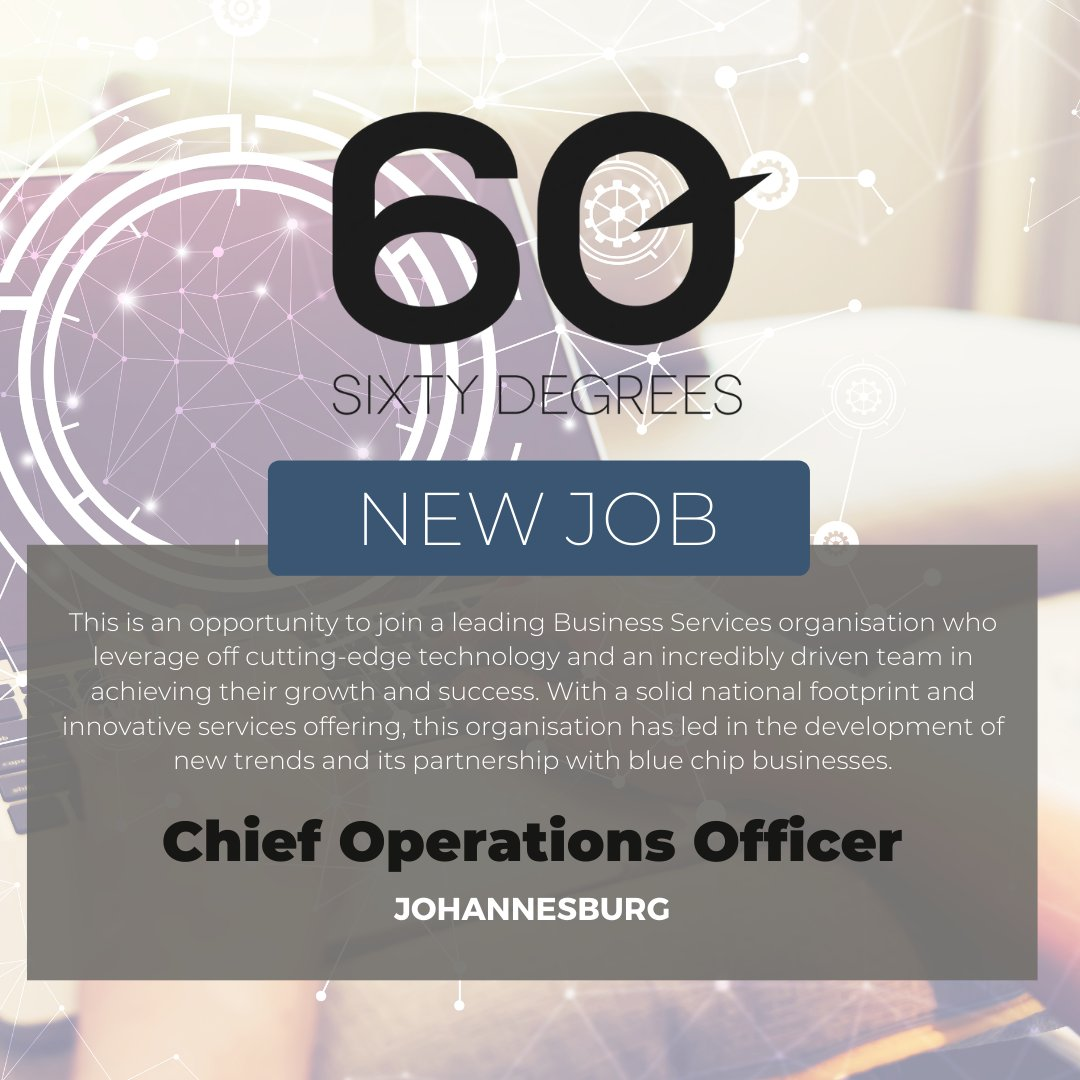 test Twitter Media - New #JobAlert - Chief Operations Officer in Johannesburg  For more information & to apply, please click on the link below;  https://t.co/8LWGiSSRad  #60Degrees #60DRecruiter #60Droles https://t.co/au6WScidgL