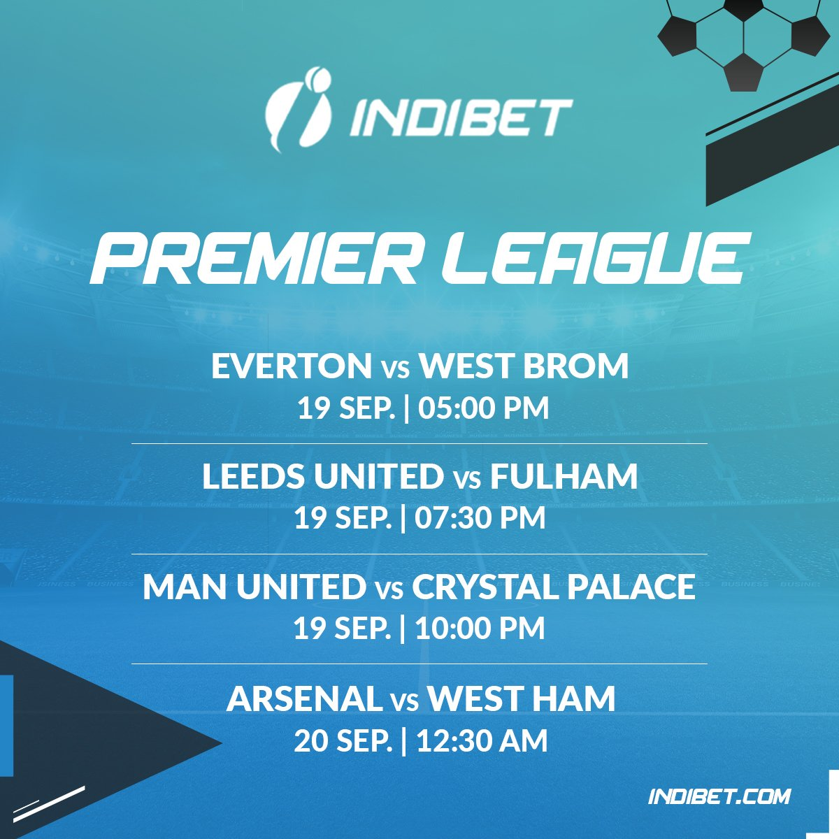 Here's the fixture list for tomorrow's matches! Comment with a ⚽ & let us know which team are you rooting for!  #football #instafootball #dropkick #igfootball  #footballteams #premierleauge #premierleauge2020 #footballfans #sports #games #instafootballlikes #INDIBET https://t.co/ddIYe2QhaA
