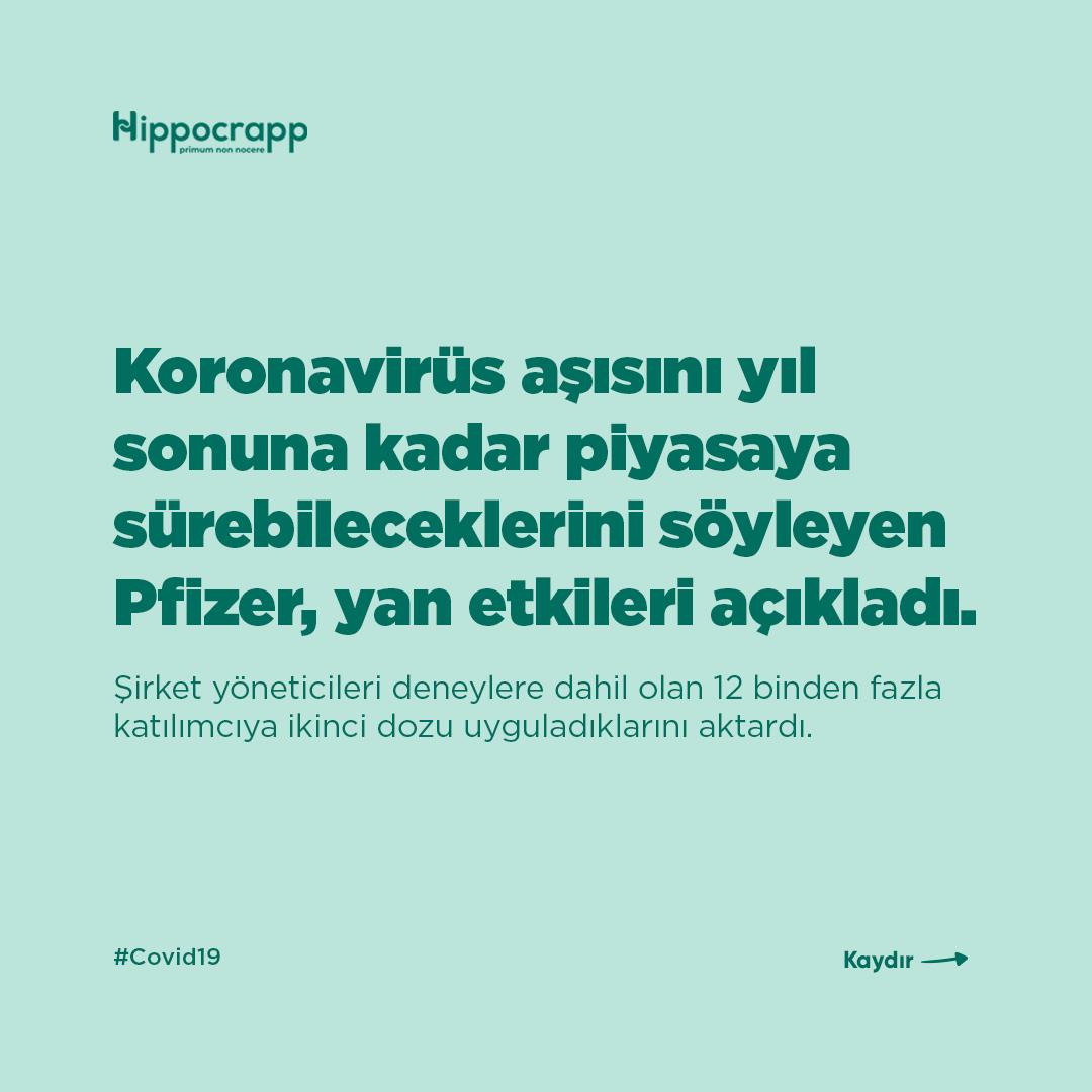 Koronavirüs aşısını yıl sonuna kadar piyasaya sürebileceklerini söyleyen Pfizer, yan etkileri açıkladı. Pfizer yöneticileri deneylere dahil olan 12 binden den fazla katılımcıya ikinci dozu uyguladıklarını aktardı. #Tıp #Hekim #Vaka #coronavirus #koronavirüs