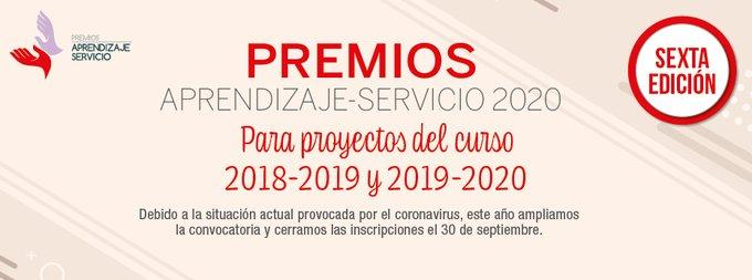 #PremiosApS20, iniciativa de @REDAPS1 y la editorial @GRUPOEDEBE en colaboración con @educaciongob, para reconocer el compromiso de niños, niñas y jóvenes para mejorar la sociedad. Inscripciones hasta el día 30 de septiembre @educaSGCTIE https://t.co/eE868UAKJx https://t.co/8lHlOgJKUD
