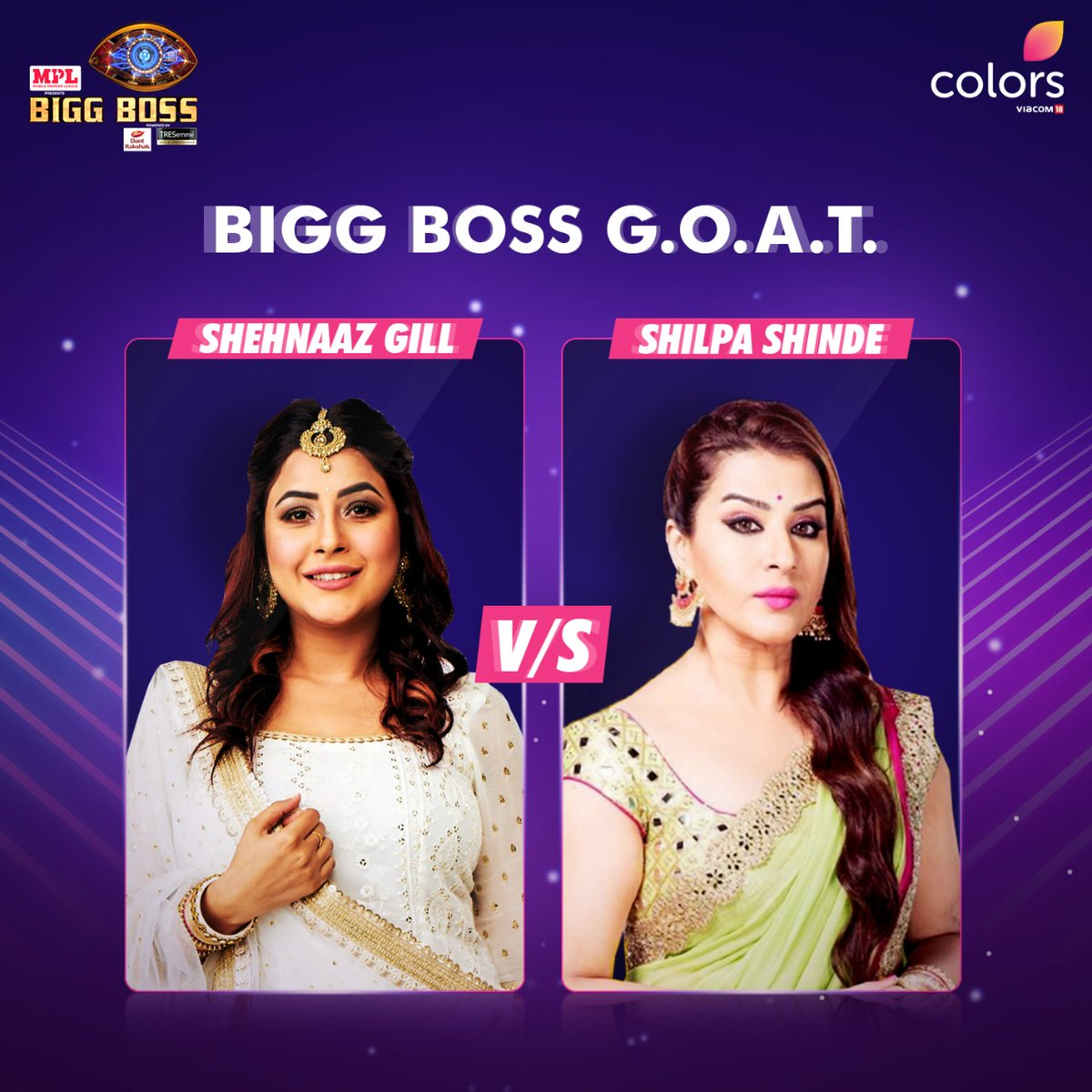 Dono hain entertainment ki complete packages!  @ishehnaaz_gill or #ShilpaShinde - who do you think is the #BiggBossGOAT?  #BB14 #BiggBoss2020 #BiggBoss @BeingSalmanKhan @PlayMPL https://t.co/DbQ2lXKnuW