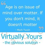 Image for the Tweet beginning: #FridayFeeling #Age #MindOverMatter #MarkTwain