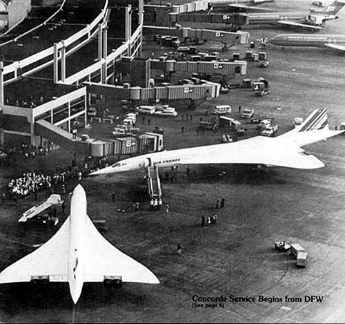 An icon spreads its wings! #OnThisDay in 1973, Concorde made its first visit to the USA, touching down in Dallas at #DFW airport. #InnovationIsGREAT 🇫🇷✈️🇬🇧✈️🇺🇸 https://t.co/t3UD9MLOwy