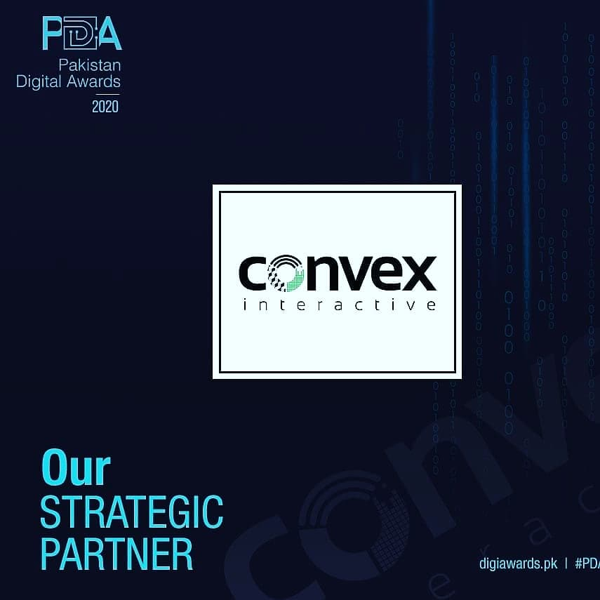 """We are honoured to announce """"Convex Interactive and BINJI """" our Slot sponsor for Pakistan Digital Awards 2020. #pakistandigitalawards #digitalawards #pakistan #awardshow #jury2020 #awardday #digitalmedia #digitalcampaigns #sponsorship https://t.co/uLDMT69V3o"""