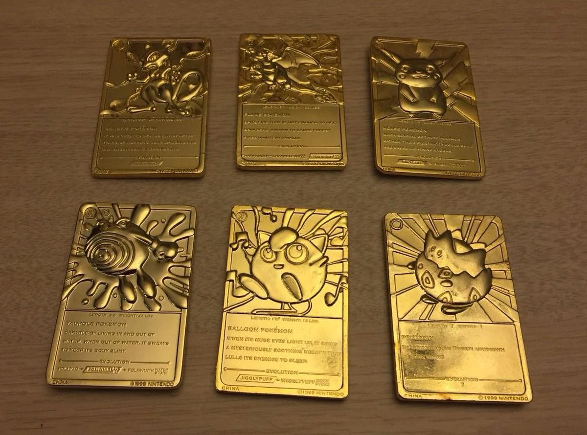 Those Burger King Pokémon gold plated cards were basically my generation's Beskar.