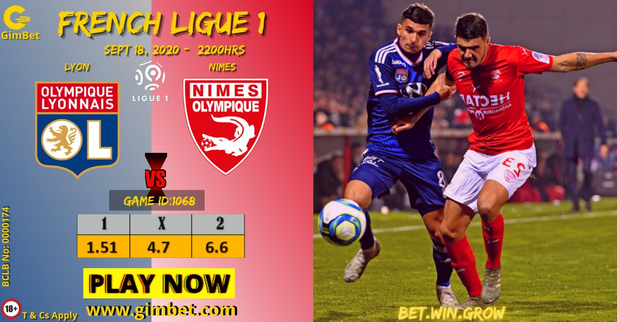 Lyon will be looking to recover from their dismal loss to Montpellier as they welcome Nimes to the Groupama Stadium on Friday.Can The Lions maul the Crocodiles? CLICK https://t.co/YvyZ6KWuvp to place your bet   #BetWinGrow #WangamatiAt3Years IEBC #FridayMotivation MArtial Pulisic https://t.co/Dx6dtwN7j5