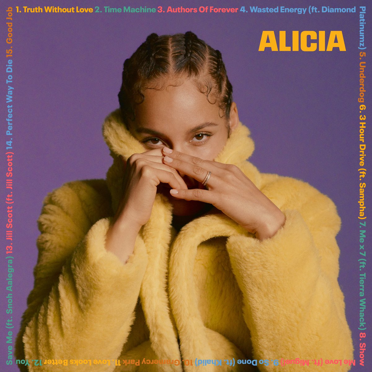 #ALICIA is out right now!! I'm grateful to share all the different sides of me with you. I'm grateful you love me as I am! Press play and let the magic begin 💜💜💜🥳🥳🥳   And tell me your favorites!! I can't wait to hear 😘😘😘