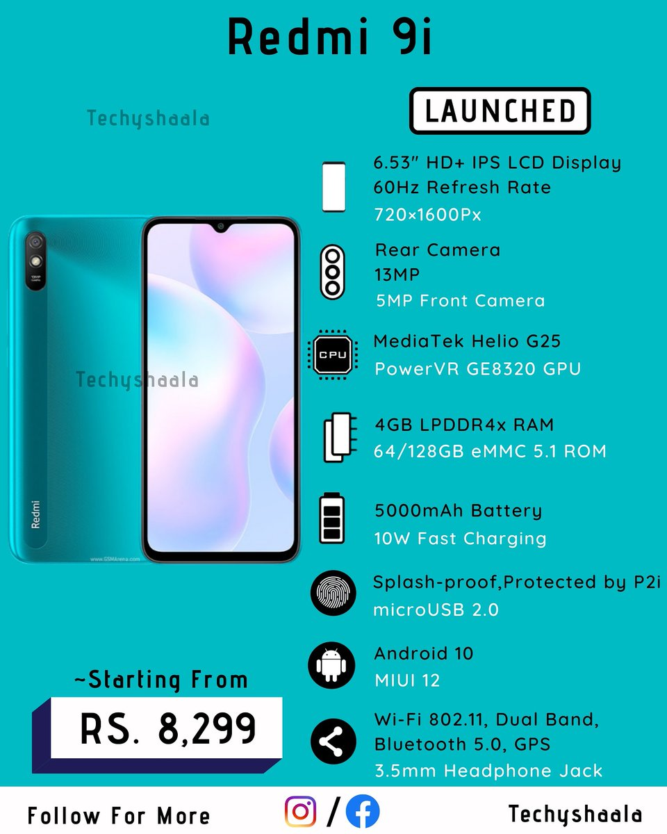 Xiaomi's latest budget phone 'Redmi 9i' will go on its first sale today. The smartphone will be available to purchase via Flipkart and Xiaomi India's official website. https://t.co/NTJNILj9gR