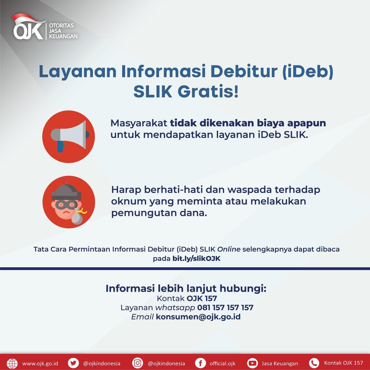 Ojk Indonesia On Twitter Sobat Ojk Siapa Yang Pernah Dengar Istilah Slik Atau Yang Sebelumnya Dikenal Dengan Bi Checking