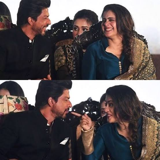 Who even are you?? Kajol is one of SRK's oldest and dearest. You mad about that? Stay mad about that. 😛 https://t.co/NTjHYsVmYj