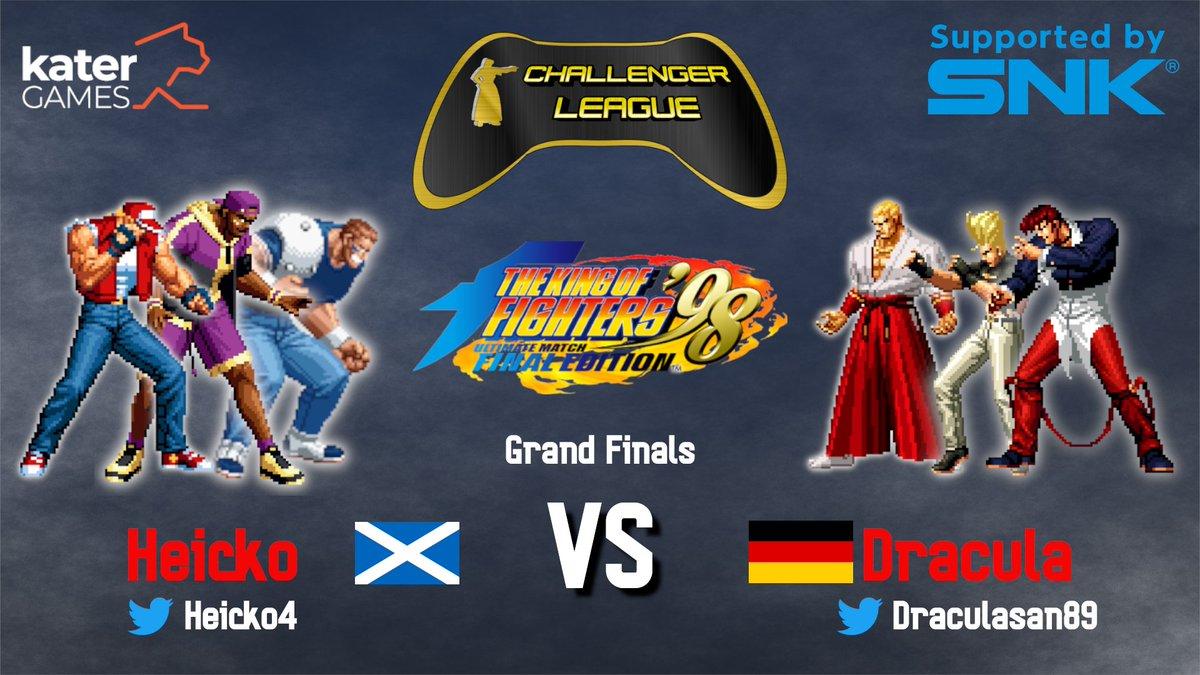 Heute zum letzten Mal #KoF98UMFE in der #ChallengerLeague! Wer wird Champion der ersten Saison?  The last time we'll show KoF98UMFE this CL season! Who will be the champion?  3rd: @JoNassRasierer vs @NFBSinJul   GF: @Heicko4 vs @DraculaSan89   19:00 CEST @ https://t.co/3V2sHkDNxB https://t.co/CFDmizT2tX