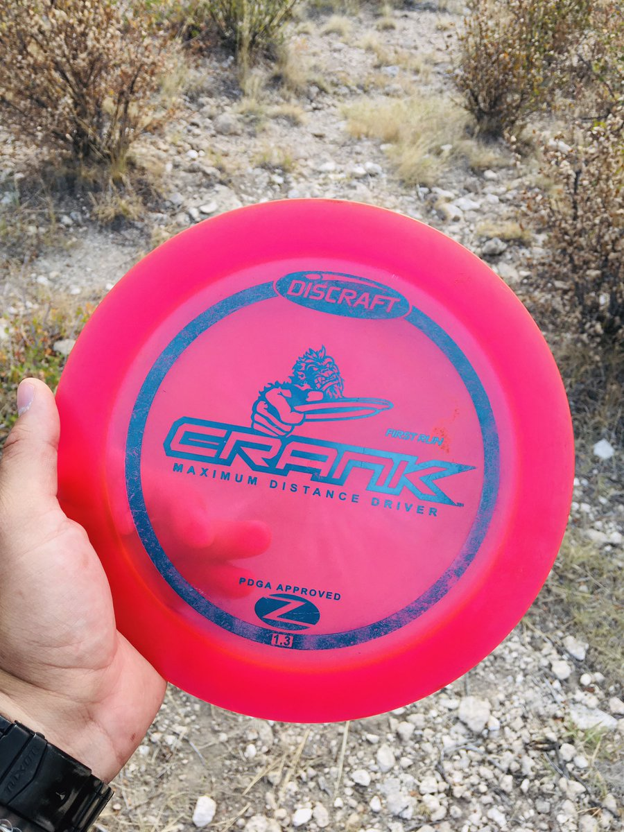 Shoutout to @kellen_connolly for gifting me this- we went back and found a couple of his lost discs and he was kind enough to to give me one. Been wanting to try a Discraft Crank so I appreciate it- thanks again man! #onions https://t.co/3Ts6PlAlmG