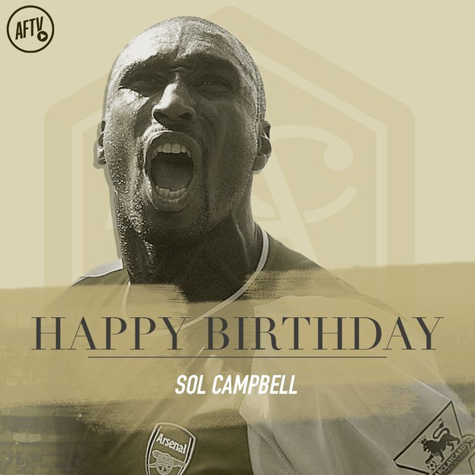 Happy birthday to you, Sol Campbell.