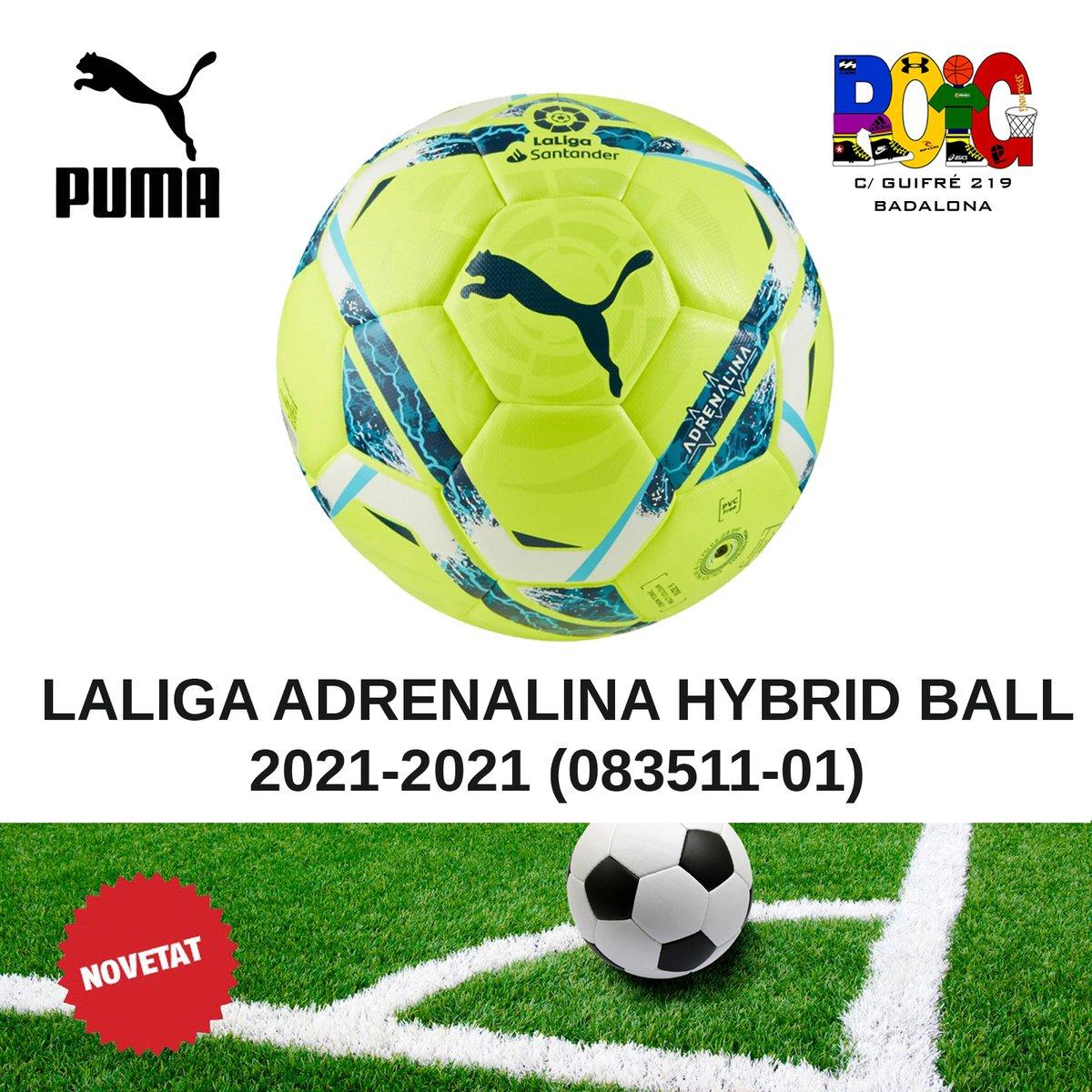 📢 NOVETATS pilotes de futbol ⚽: la Puma LALIGA ADRENALINA HYBRID BALL 2021-2021 (083511-01) Disponibles a la botiga o a la web 💻 en https://t.co/2bEWZ1WxOg #puma #jordiroig #badalona #futbol #soccer https://t.co/WNbMv35Zsx