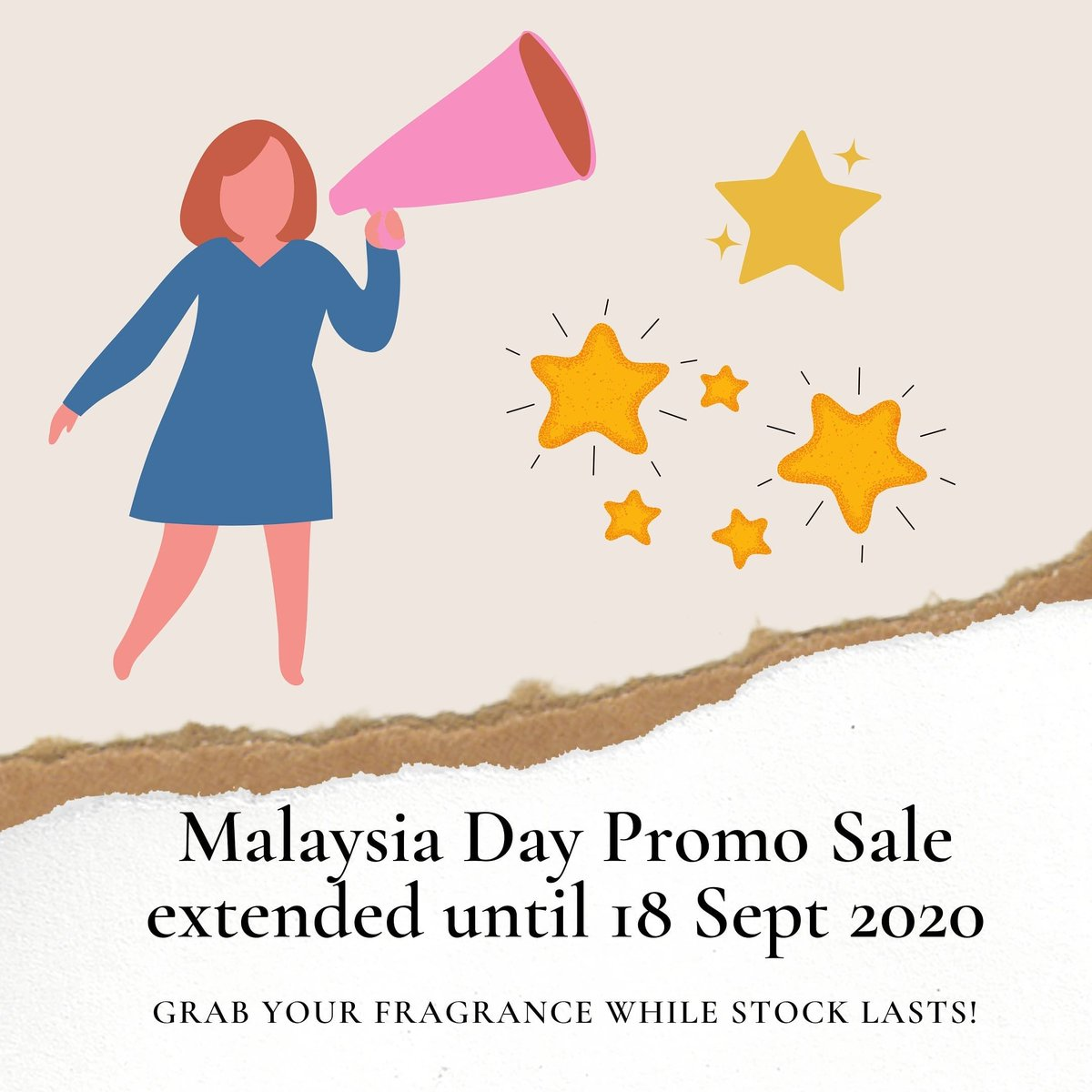 Hi guys! 🌟 🌟🌟  We are happy to announce that our Malaysia Day promo sale has been extended until 18 Sept 2020. 🇲🇾  Grab this chance to purchase your favourite fragrance before the promo ends! https://t.co/r6UCxolju6