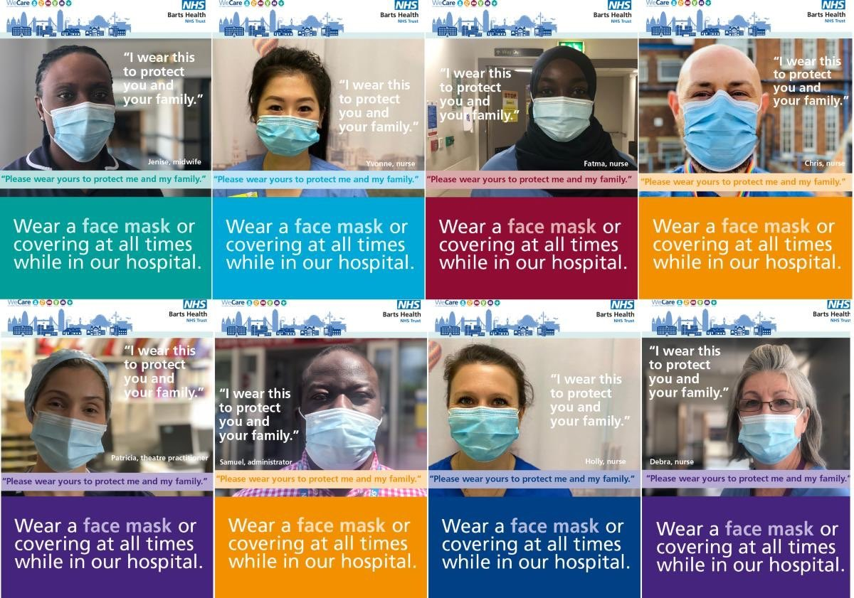 Wear a mask, wash your hands and socially distance to protect our patients, colleagues and ourselves. We all need to adhere fully with these Covid infection control measures & please be vigilant at all times. We are all accountable for our actions @NHSBartsHealth #WeCare https://t.co/EOgnRMMc95
