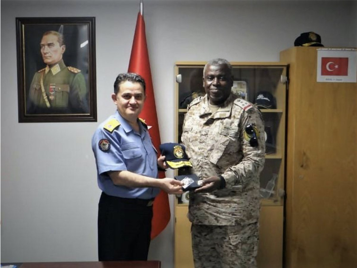 RDML Sulieman Alfakeeh, Commander of CTF 150, paid a courtesy call to the commander of CTF 151, RDML Nejat Inanir. They discussed continued cooperation as both Combined Task Forces operate in shared waters. #ReadyTogether #maritimesecurity