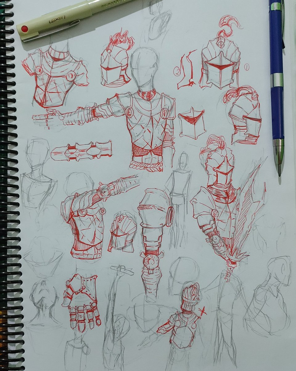 Practising armor design 😗😗 used 4 or 5 ref from pinterest   #ArtistOnTwitter #sketchbook #sketching #sketch #traditionalart #sketches #drawing #art #drawings #draws #pencil #artist #pencilart #armor #design https://t.co/sWAkvpe2h5