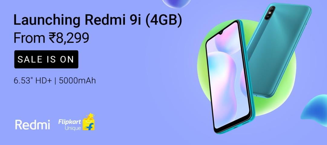 Redmi 9i (4GB) starting from Rs 8,299 available on #Flipkart https://t.co/qazXbRgSTq https://t.co/Zmwao6OKpn
