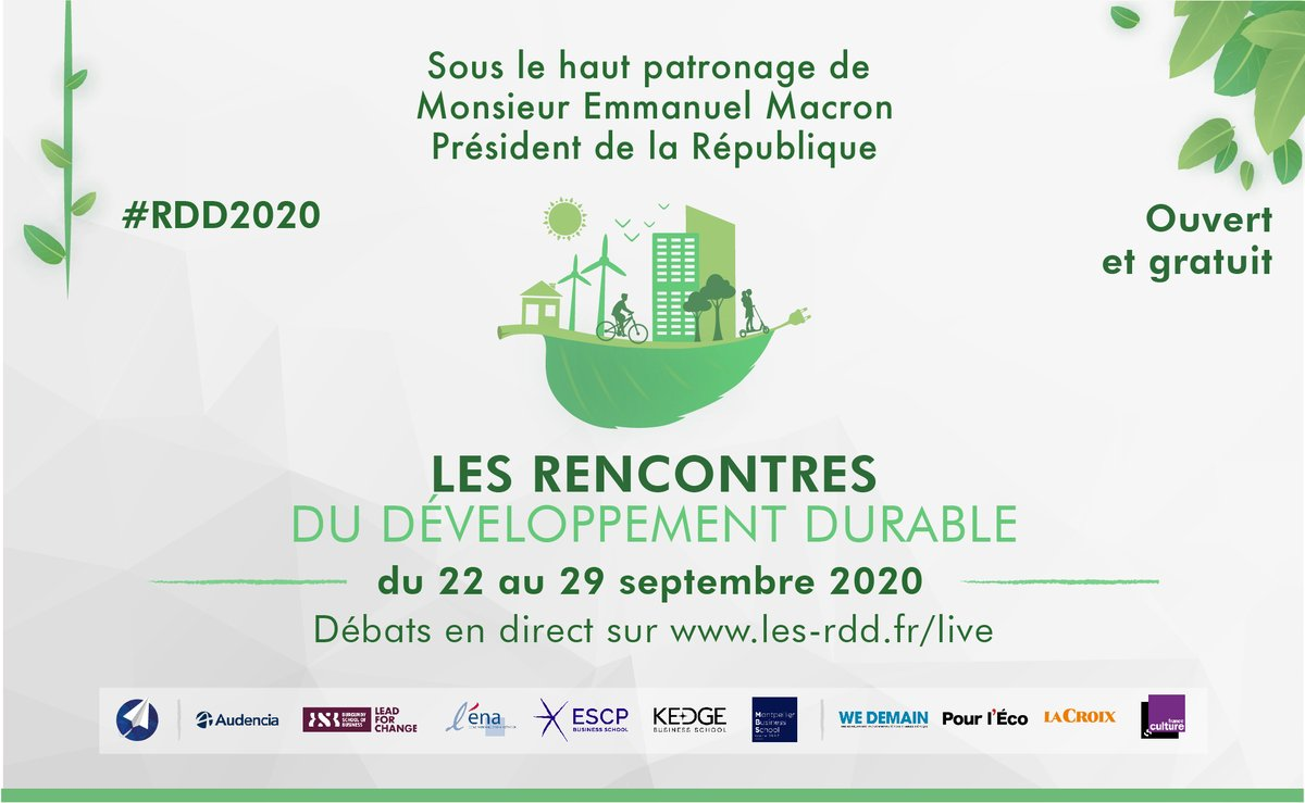J-3📅[#RDD2020] Une semaine de débat autour des enjeux essentiels du #DeveloppementDurable avec l'intervention de @Sparknews 📣«Transformer le capitalisme, transformons nos entreprises» #ImpactPositif  Inscriptions 👉https://t.co/86d1XnwEGK https://t.co/OeQMVxiRHJ