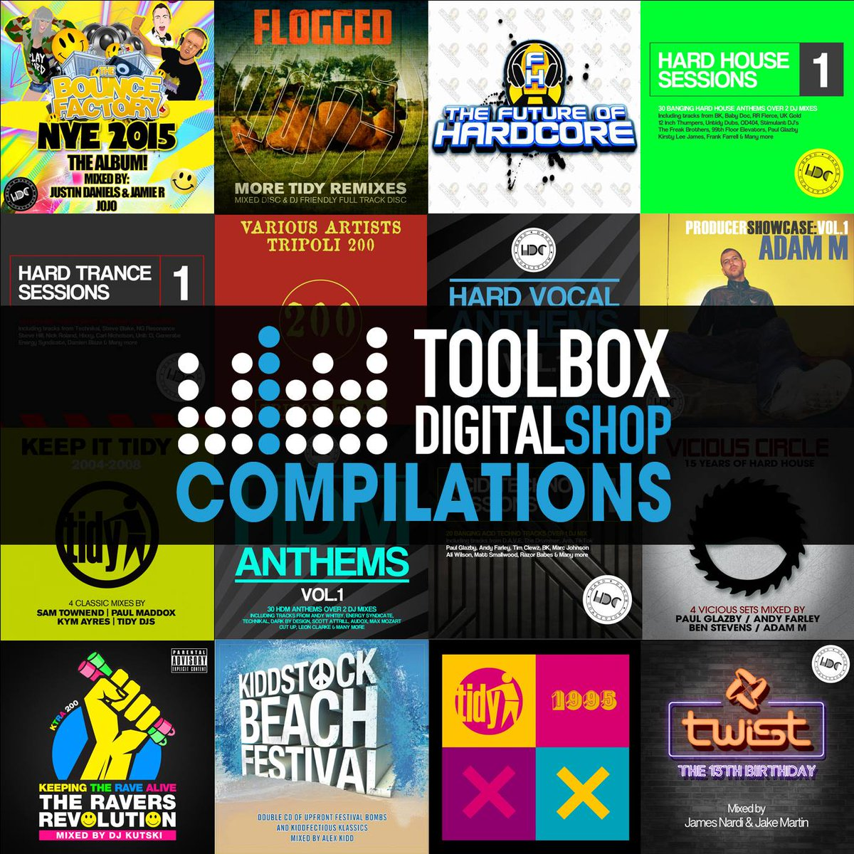 Digital Compilations are a great way to increase your music library for a fraction of the cost as many come bundled with all the single tracks.  Check out our compilations section and grab some fresh music: https://t.co/hkP8ILaFkm  #hardhouse #harddance #hardcore #toolboxdigital https://t.co/2UivFdc0iy