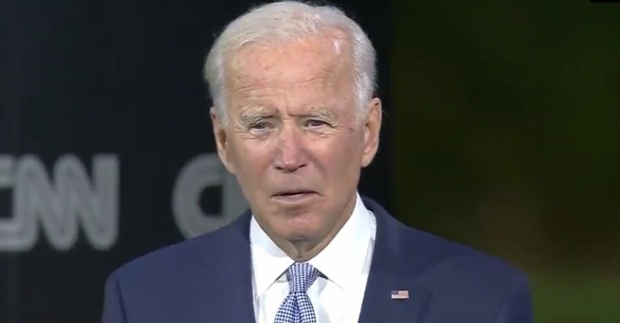 Gonna have to stop myself from using this screen cap of Biden from tonight as my response to every dumb post.