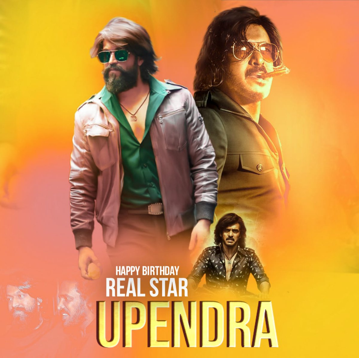 Best Birthday Wishes To Real Star @nimmaupendra Sir Behalf Of @TheNameIsYash BOSS Fans ♥️  Waiting For #Kabza  #HappyBirthdayUpendra #KGFChapter2 https://t.co/3VX6ZUtIro