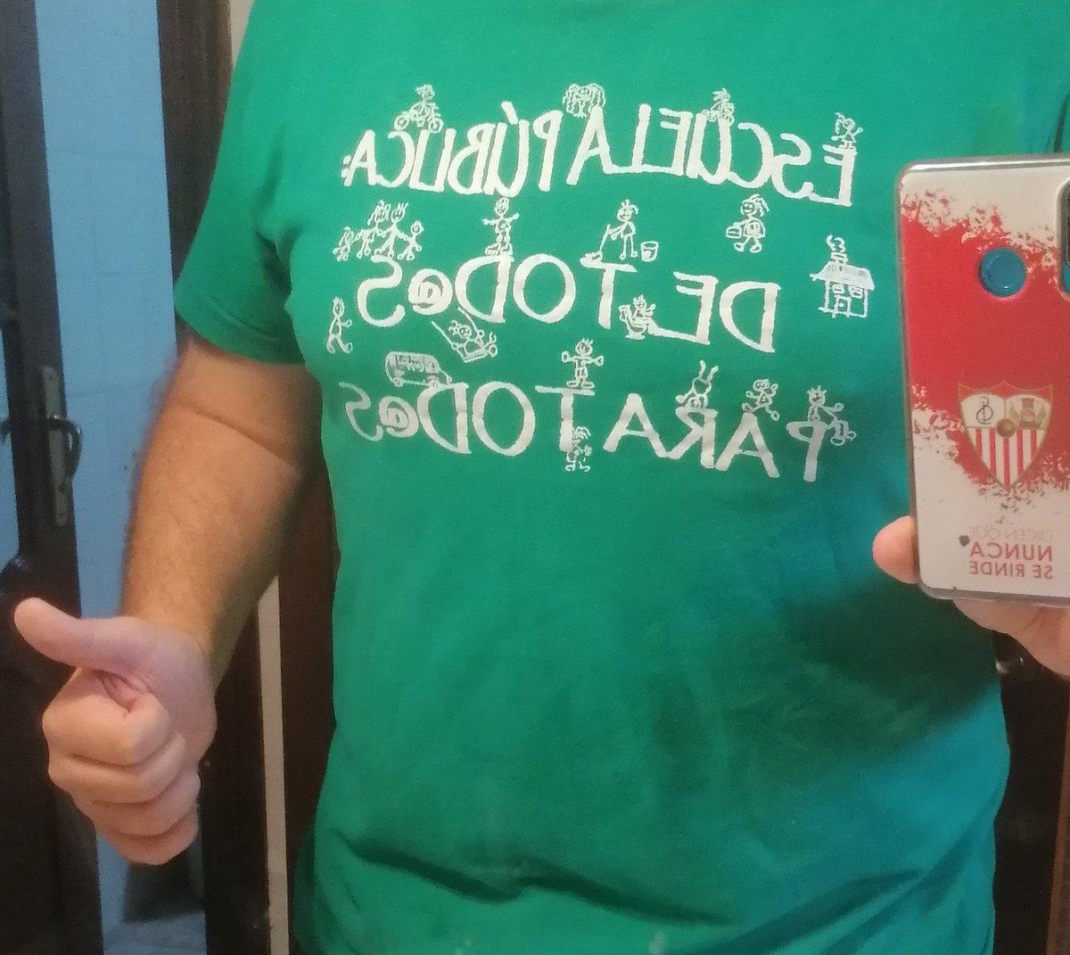 Hoy vuelve a tocar sacar esta camiseta de  👨🏼🏫#Huelgaeducativa18S 🏫Escuela públi....