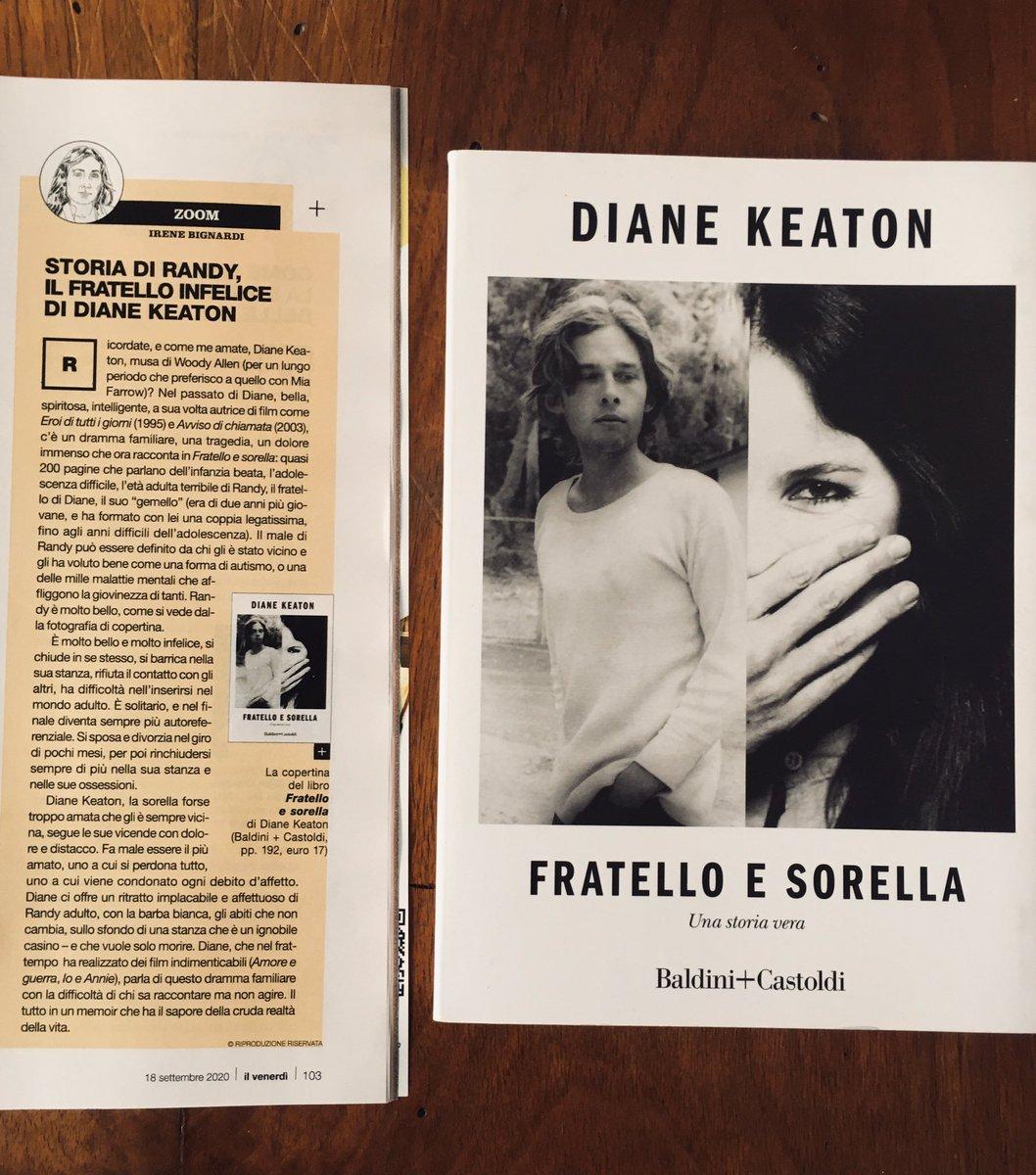 Ricordate, e come me amate, #DianeKeaton, musa di #WoodyAllen? Nel passato di Diane, bella, spiritosa, intelligente, autrice di film come Eroi di tutti i giorni (1995) e Avviso di chiamata (2003), c'è un dramma familiare, un dolore immenso che ora racconta. #Bignardi @CasaLettori https://t.co/d23nD9DBKd
