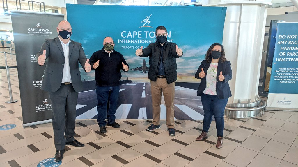 This morning we visited @capetownint to assess thereadiness of the airport to welcome international visitors under Alert Level 1. There is no doubt that we are #TravelReady!  #WeAreOpen https://t.co/LT6PElfVie