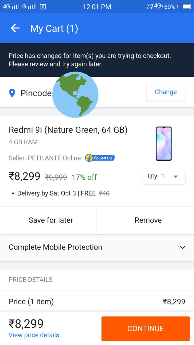 This is how #Flipkart make their customers fool. I added Redmi 9i into the cart today at 12PM, then i got this message from @Flipkart https://t.co/CBkmaPWbKU