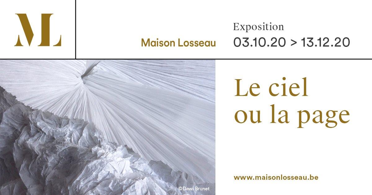 Du 3 octobre au 13 décembre 2020, l'Atelier du Livre de Mariemont investit la Maison Losseau  (Mons), et vous propose de découvrir l'#exposition Le ciel ou la page.  Plus d'infos : https://t.co/HPlkwzvhr5  #expo #papier #atelierdulivre #maisonlosseau #mons https://t.co/dmDPI9xEfN