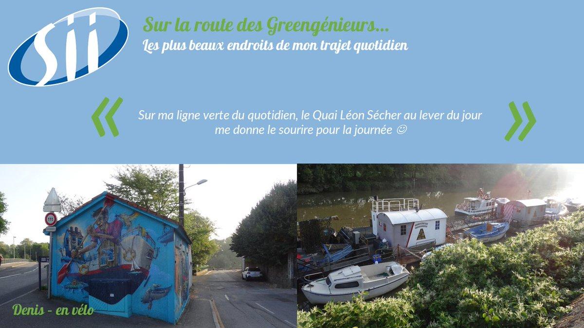 Aujourd'hui, Denis nous fait suivre sa ligne verte de vélotafeur. Sur @NantesMétropole, près de 600 km de pistes cyclables sont aménagées. #EMW2020 #SEM2020 #BougeonsAutrement #MobilityWeek #ODD13 #vélotafeur https://t.co/MNTgq2Nlfp
