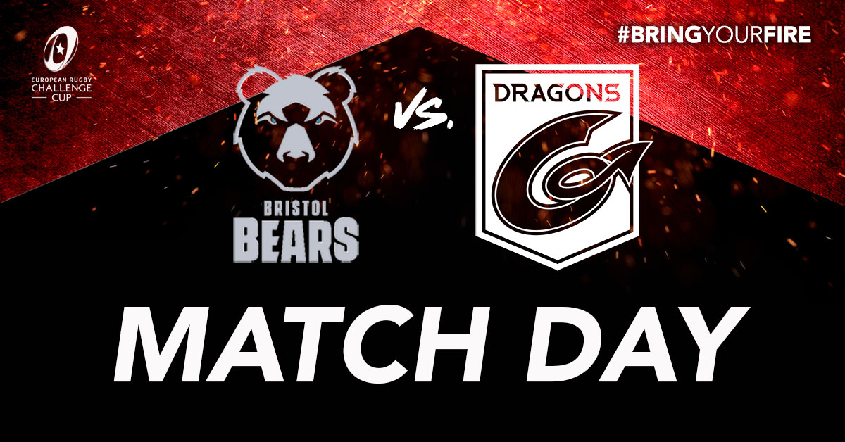 🐉 MATCH DAY | It's arrived... and it's going to be💥  All set for an unforgettable 🐻🆚🐉 clash for a place in the final 4⃣⤵️  🆚 @BristolBears  🏆 @ERChallengeCup   🏟️ Ashton Gate ⏰ 7.45pm 🎟️ Behind closed doors 📺 @btsportrugby  📱#BRIvDRA  #Rise #BringYourFire🔥 https://t.co/8WZuyVFsfk