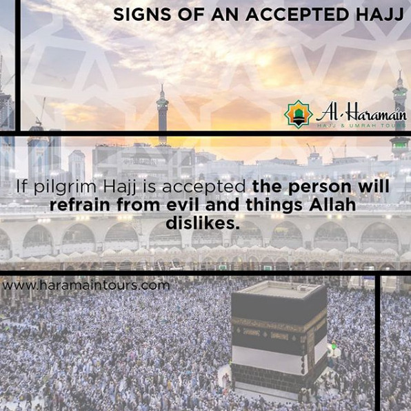 Al Haramain Hajj & Umrah Tours Ltd | #Signs of an Accepted #Hajj!!!  #HajjPackages #HajjPackagesUK  Visit - https://t.co/BxVym5gROZ  Or  Quick Call - 01254 290101 https://t.co/dyJt5gtnoN