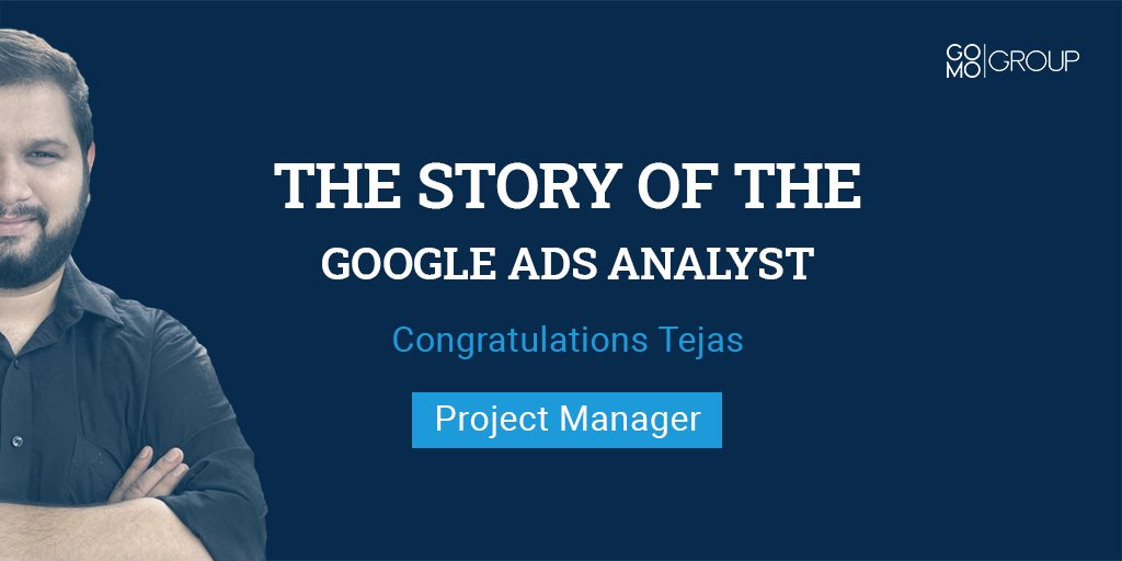 """Over 3 years, my career graph has grown exponentially — Sr. AdWords Analyst (2017), Management Associate (2019) and Project Manager (2020). As a Management Associate, I worked on the biggest projects in SEO & Google Ads while leading 2 teams of 12."""" — Tejas Salvi, Project Manager https://t.co/UpUciYviSd"""